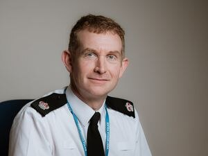 LAST COPYRIGHT SHROPSHIRE STAR JAMIE RICKETTS 09/04/2019 - Stock Pictures of Supt Paul Moxley at Telford Malinsgate Police Station..