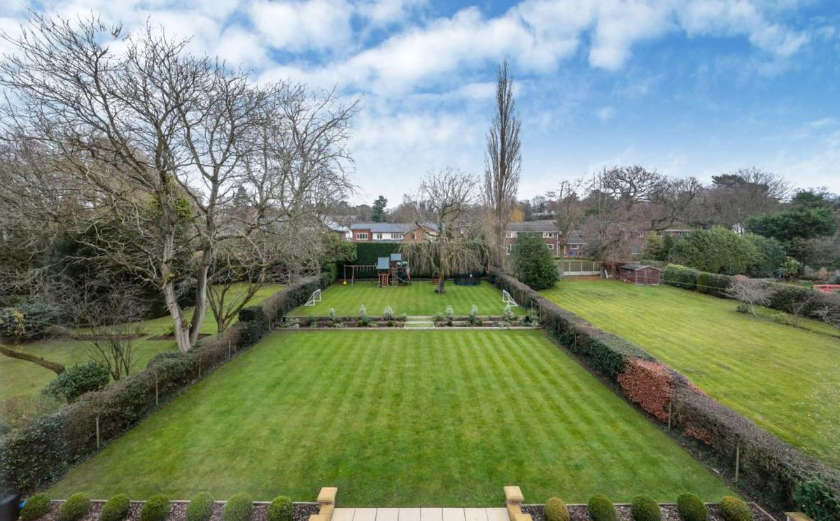 A mini football pitch is in the back garden. Picture: Rightmove