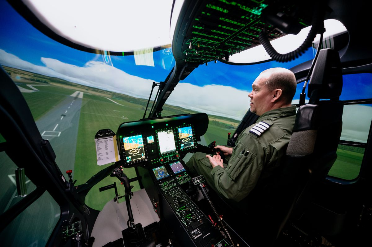 Inside the state-of-the-art flight training facility