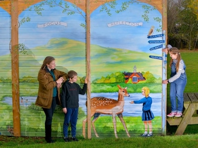 Artist's creation brightens up school near Ludlow- with pictures