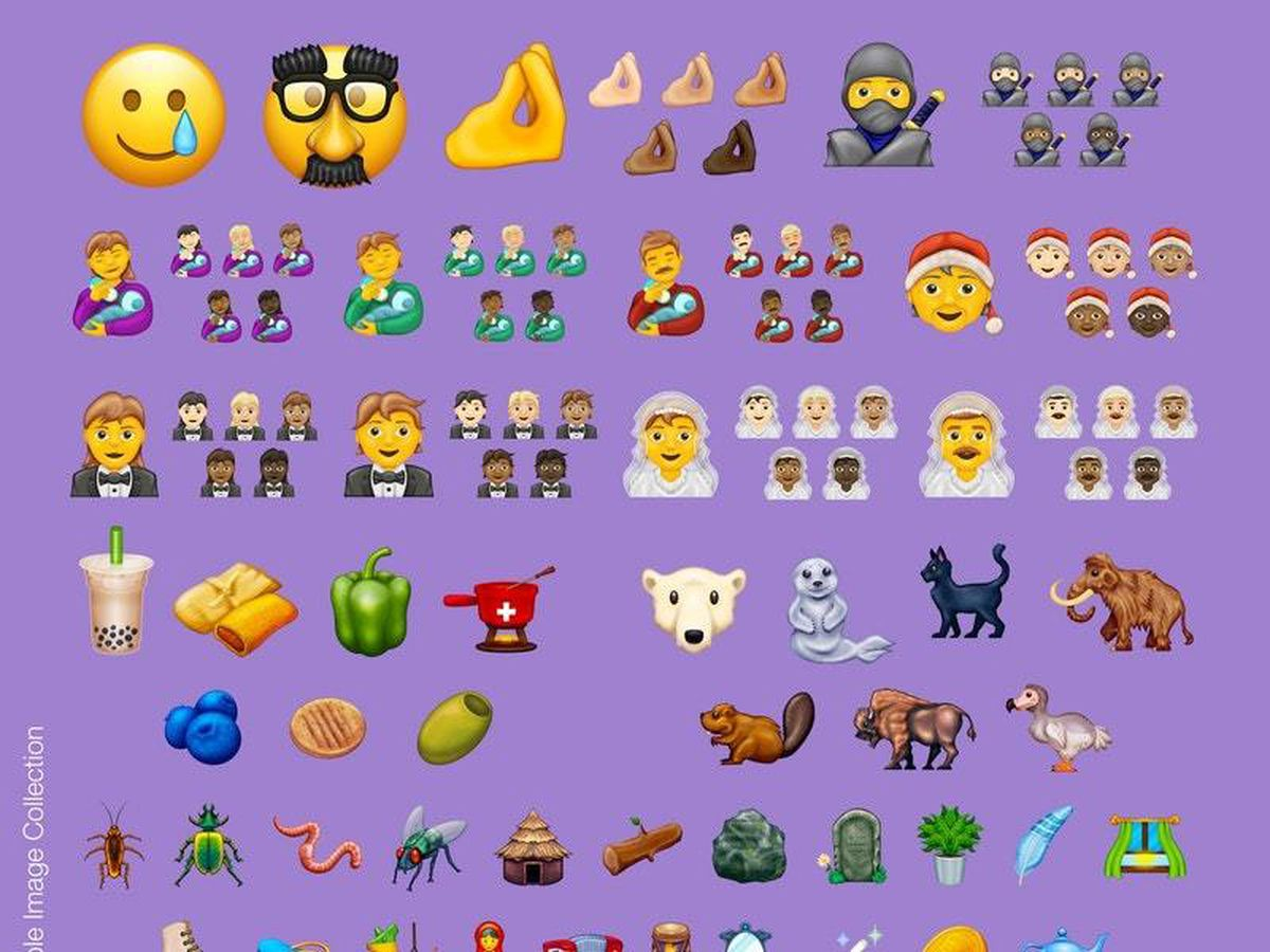 A collection of the new emoji images approved for use in 2020