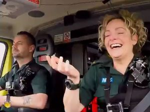 Michael Hipgrave and Deena Evans featured in a Christmas special of Inside the Ambulance last year on UKTV. Image: Inside the Ambulance/UKTV