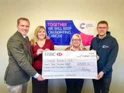 Shropshire firm kicks off year of cancer fundraising with £23,000 donation