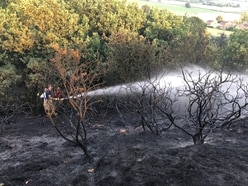 Crews tackle spate of Shropshire grass fires - with pictures