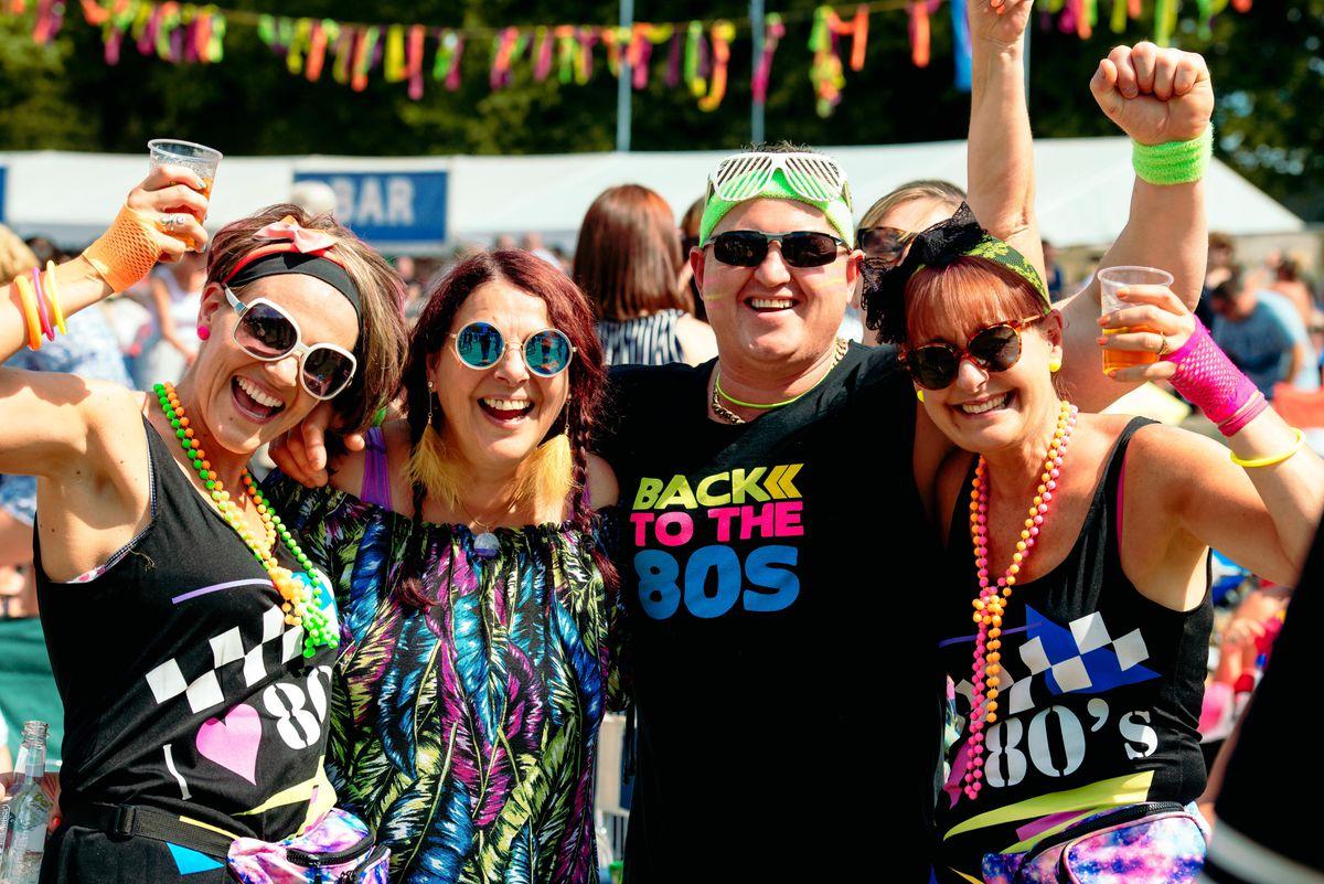 Leanne Hopwood, Jools Fox, Darren Hopwood and Sandra Trevor at Let's Rock Shrewsbury 2018