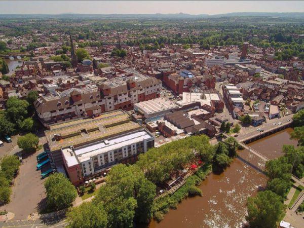 The Riverside and Smithfield Road area of Shrewsbury