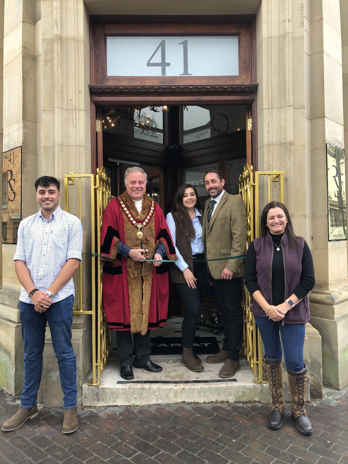 From left, Ritchie Smith, Mayor of Llanfyllin, Demi Smith, Richard Smith, and Liza Jane Smith.