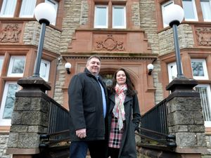 LAST COPYRIGHT TIM STURGESS SHROPSHIRE STAR...... 03/01/2021.  Shrews - Couple David and Jennifer English from Nesscliffe, Shrewsbury were both awarded BEMs in the New Years Honours which is unusual for a couple to be honoured together. For services to: social care during Covid-19..