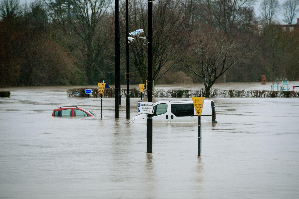 Flooding in Shrewsbury. Photo: Jamie Ricketts