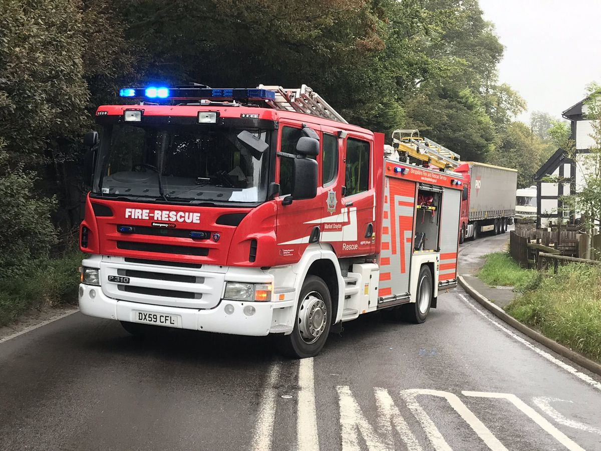 Fire crews attended the crash on the A41. Picture: @SFRS_MDrayton