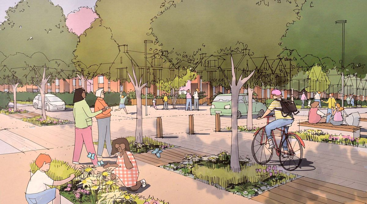 Plans on display for the proposed development. Proposed Church Lane Square.