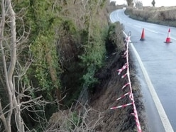 Major engineering works needed to stabilise road after landslip