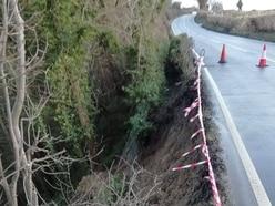 Major engineering works needed to stabilise road after landslip