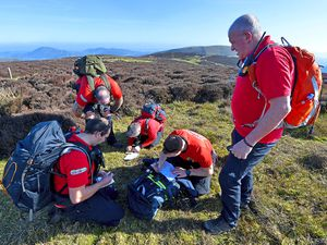 West Mercia Search & Rescue on a training exercise on the Long Mynd
