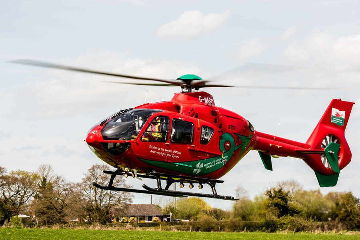 The air ambulance was called to the incident shortly after 7am