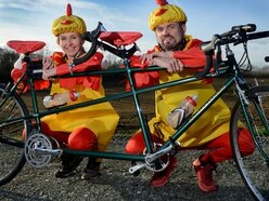 Plucky duo take to bike for Harry