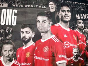 Manchester United's Cristiano Ronaldo has been added to the player mural artwork on the outside of Old Trafford stadium