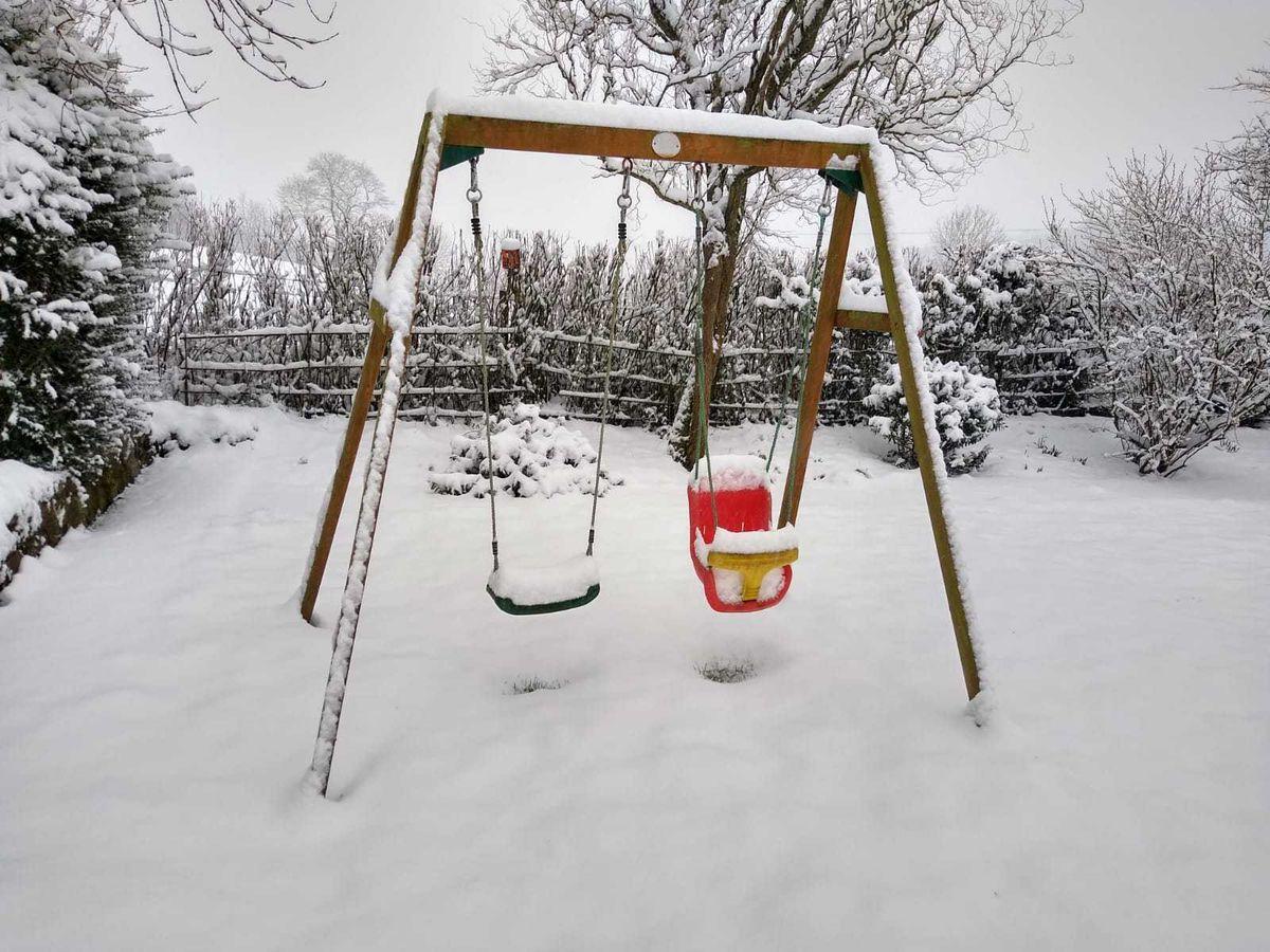 Snow in Treflach, near Oswestry