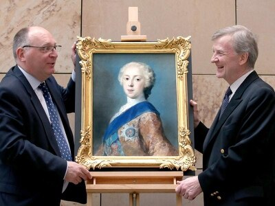 Bonnie Prince Charlie portrait in rare public view at gallery