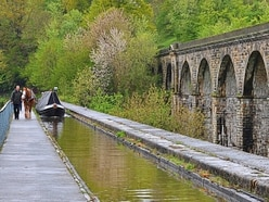 Seeing the Llangollen canal in a different light for anniversary