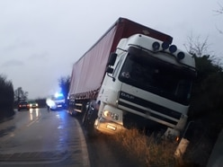 Lorry accident causes delays in North Shropshire