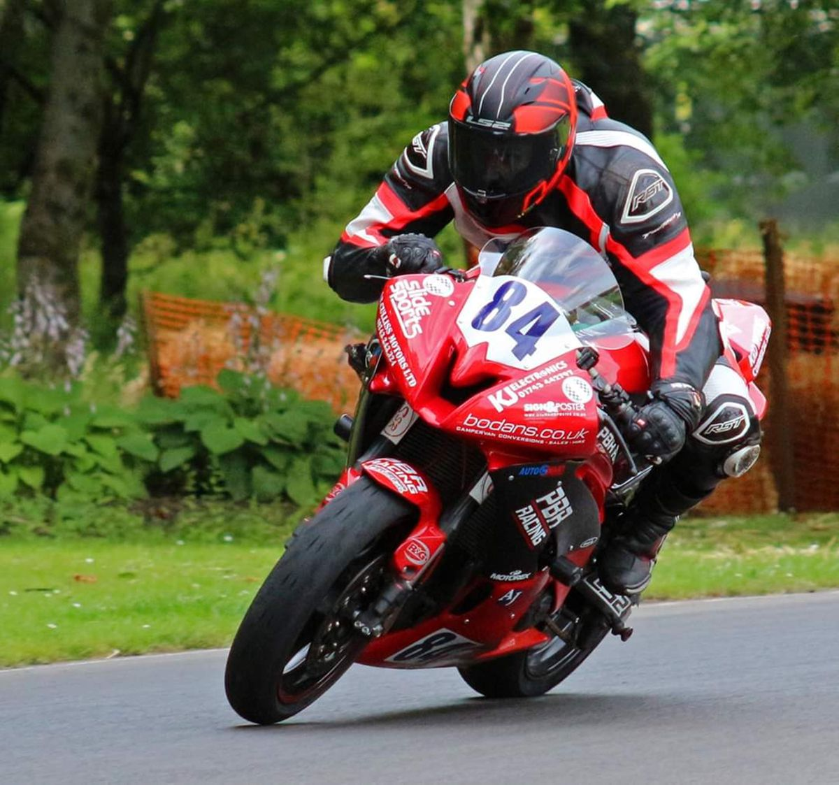 Evans has enjoyed success racing at the Aberdare Park Road Races. Picture: Gary Llew