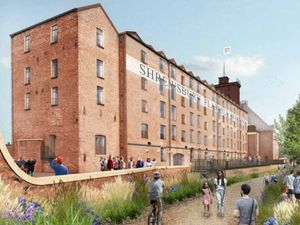 An artist's impression of the site