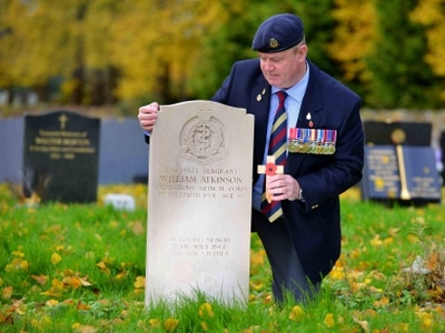 Grave is refurbished after Shropshire soldier's appeal - with video