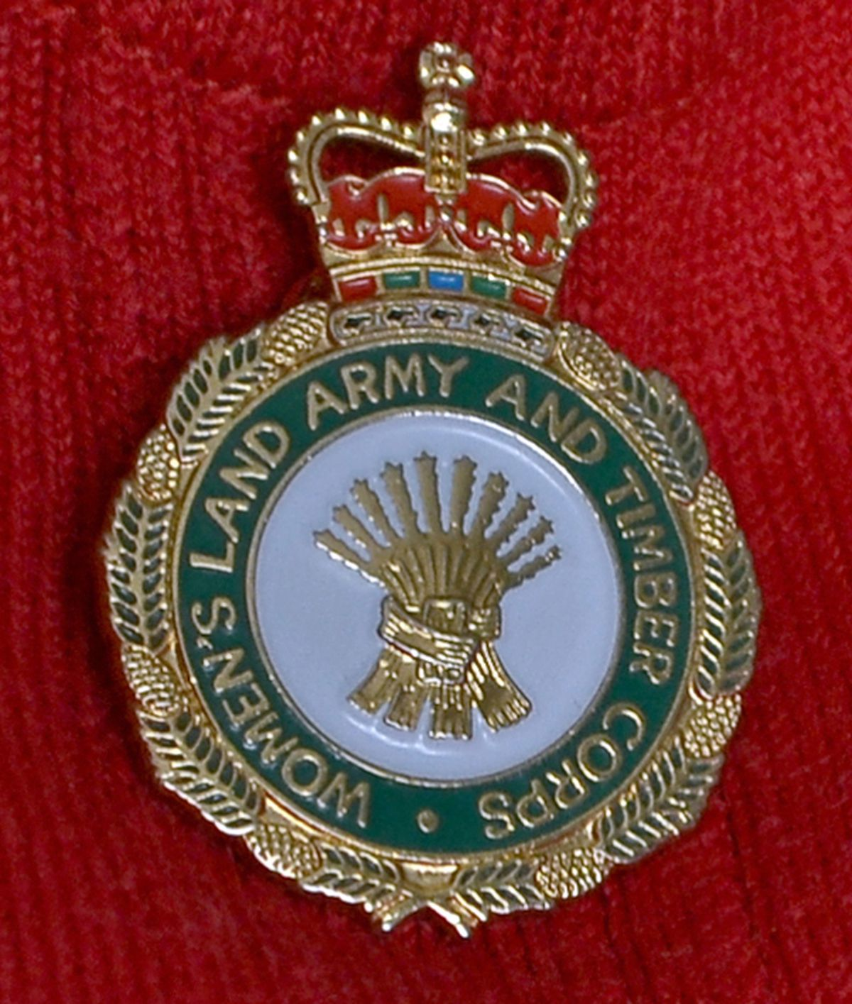 Mrs Jones still proudly wears her Land Army badge