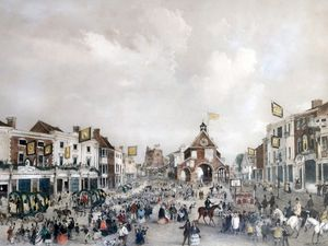 Celebrate good times – the crowds in Newport in 1857