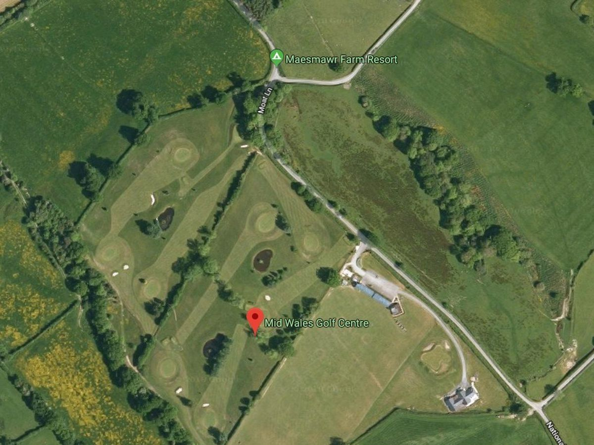 Mid Wales Golf Centre aerial shot. Pic: Google Maps