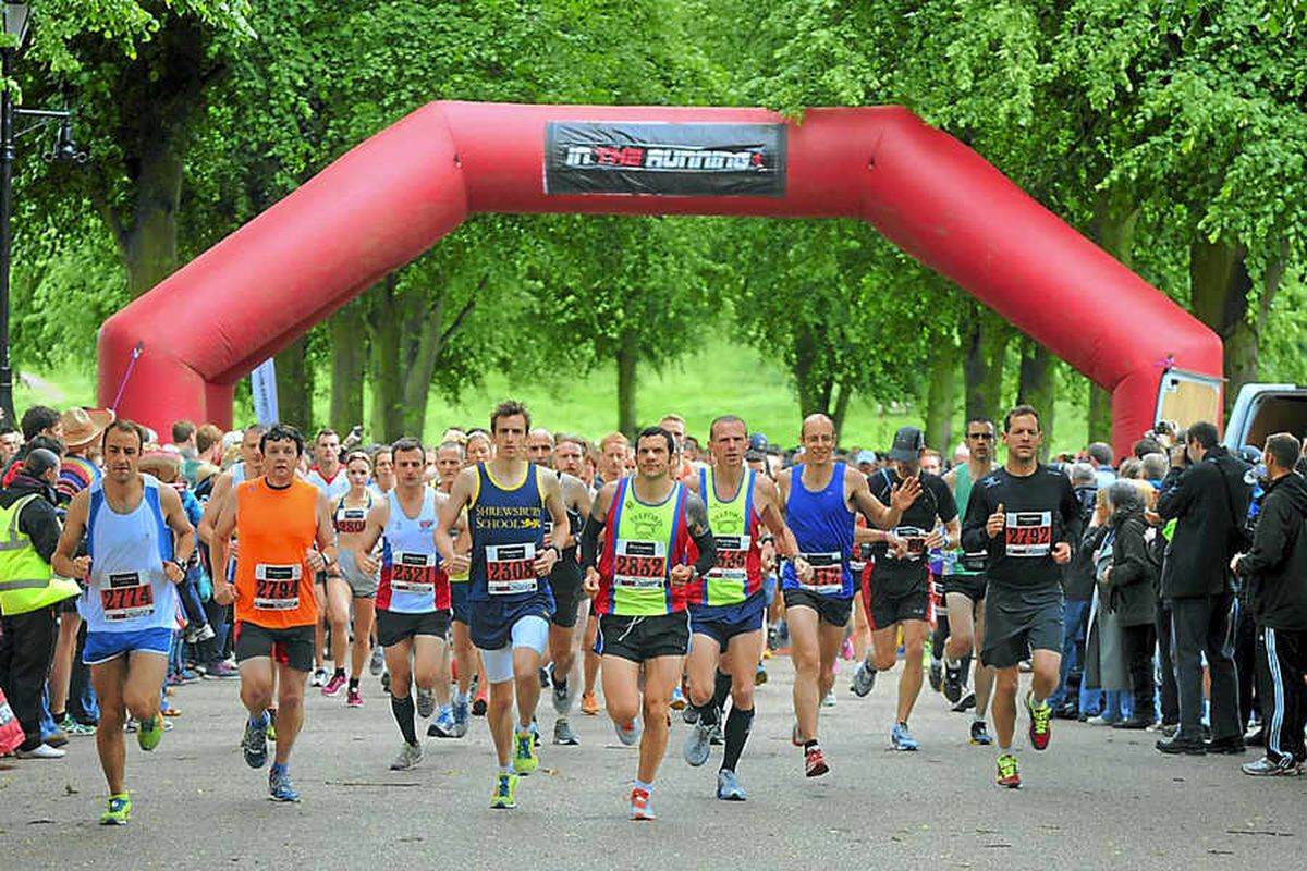 Shrewsbury's first marathon begins in The Quarry park, at 9.20am on June 23, 2013 – 20 minutes later than planned. Telford runner Wayne Dashper – number 2832 – was the eventual winner in a time of 2hr 50min 45sec.
