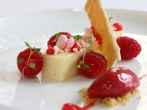 Style over substance? – the panna cotta dessert was prettier than it tasted                                                                                                                     Pictures by Russell Davies