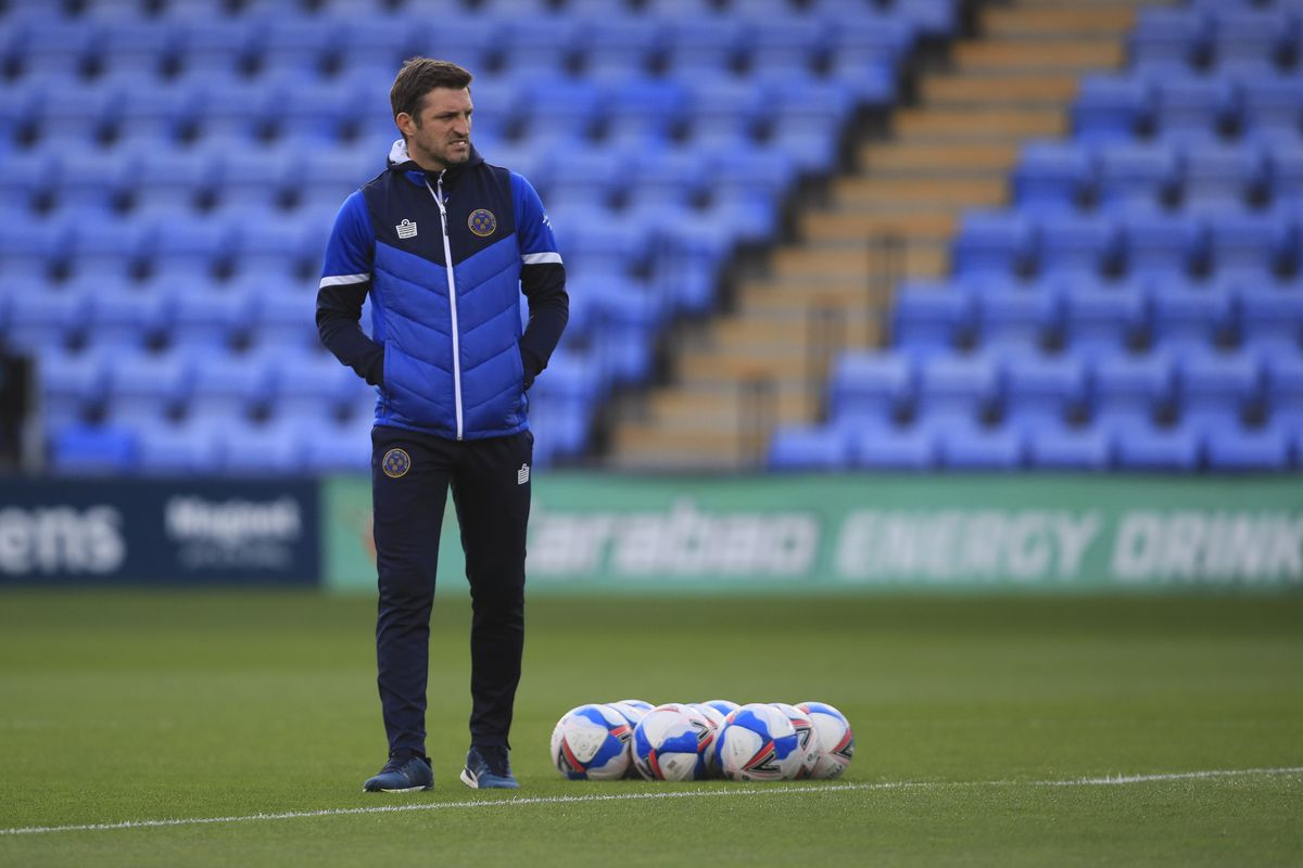 Sam Ricketts the head coach / manager of Shrewsbury Town. (AMA)