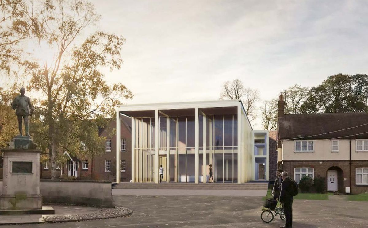 The proposed new look for the theatre at Shrewsbury School