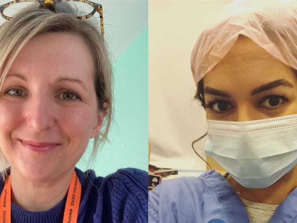NHS nurses Holly Turner and Ameera Sheikh
