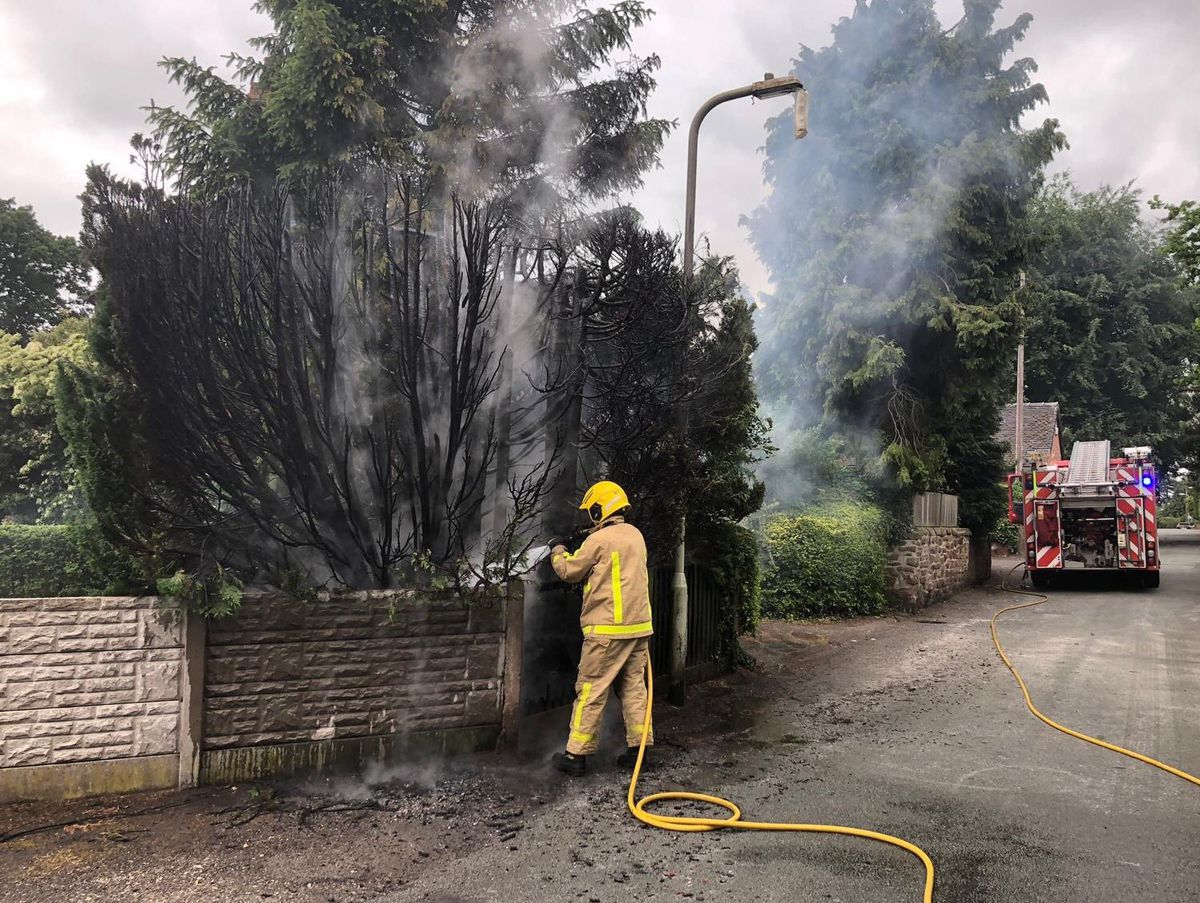 Firefighters at the scene. Photo: @SFRS_MDrayton