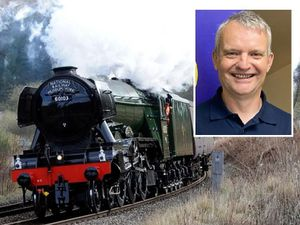 Simon Holroyd, inset, worked on the Flying Scotsman restoration project