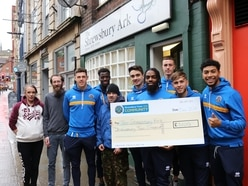 Shrewsbury Town players score a hit with special visits