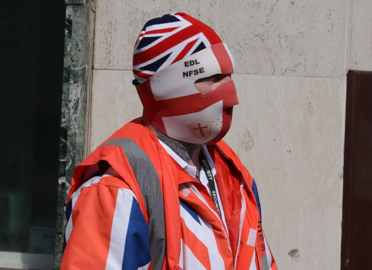 One EDL protester