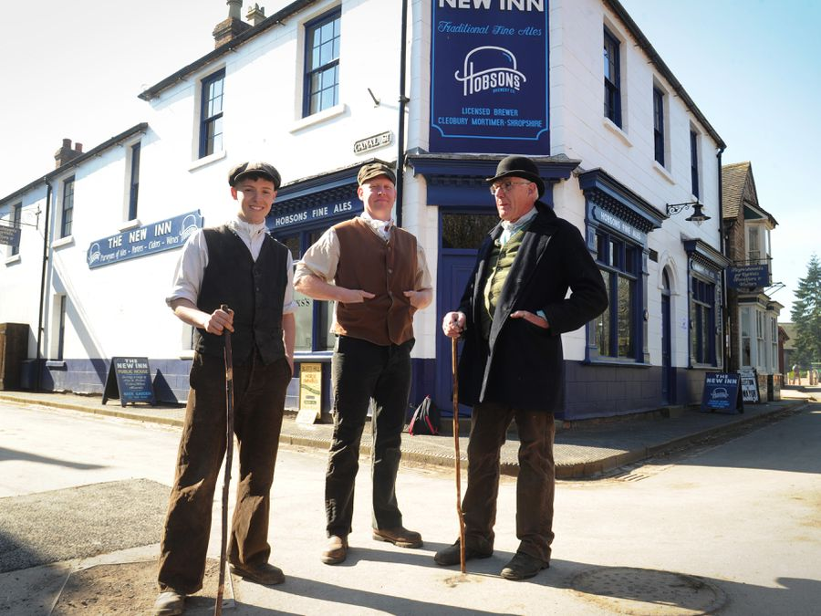 From left, Kieran Smith, Dale Glover and Steve Ledsham in costume at Blists Hill