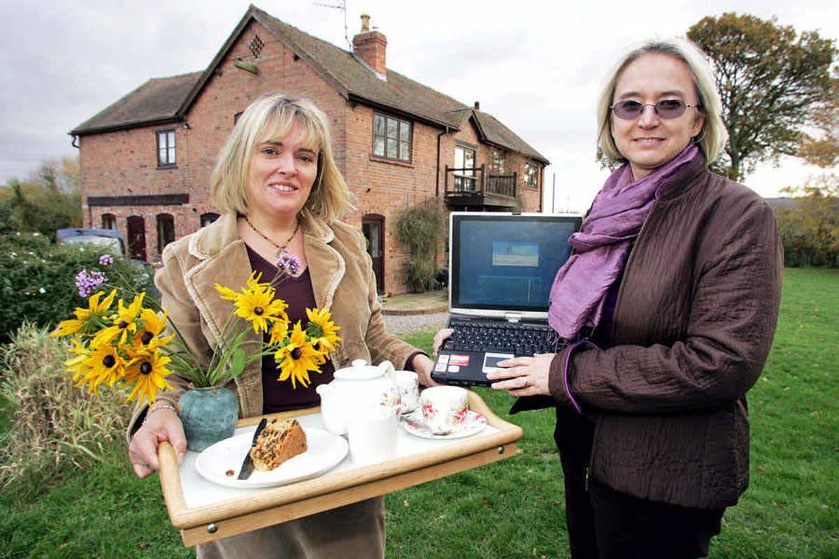 Karen Thorne, left, of Hopton House was the Star's first Twitter follower