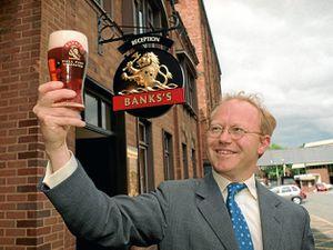 David Thompson enjoying a pint at Banks's, Wolverhampton