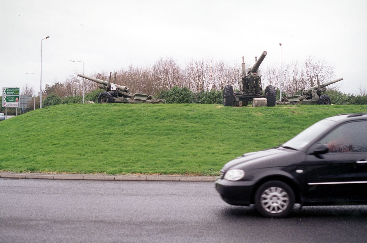 The field guns on the Donnington roundabout have made it an enduring landmark.