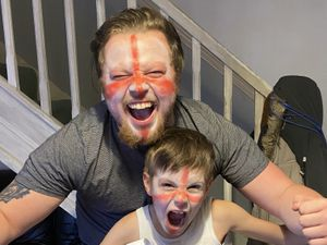 Michelle from Telford sent in these photos of her excited family ahead of the final