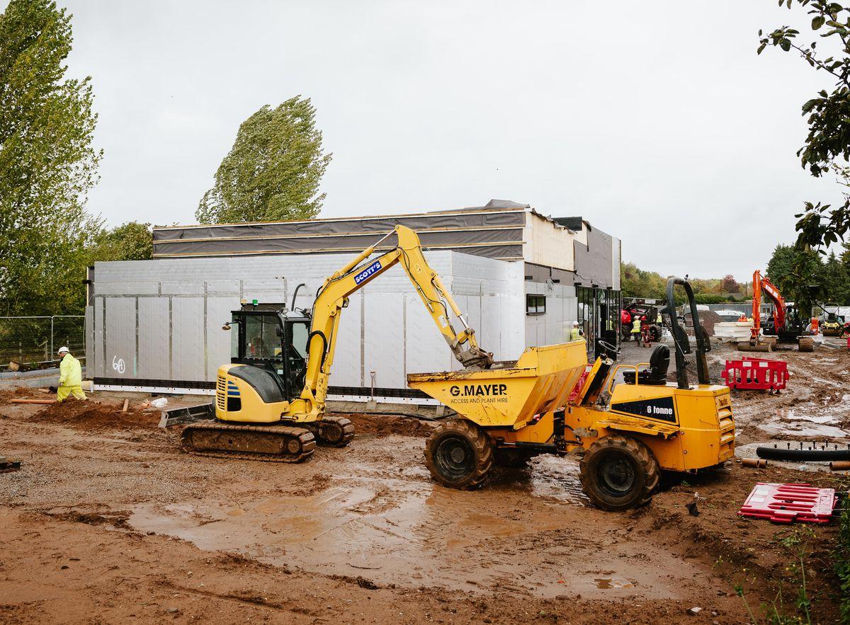 Work is under way on the new McDonald's restaurant in Market Drayton