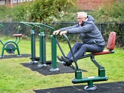 New outdoor exercise equipment comes to Market Drayton park