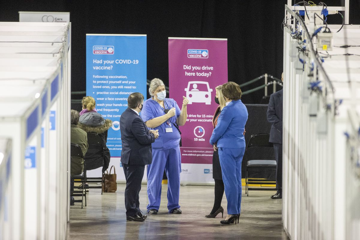 Lead Nurse at the vaccination centre at the SSE Arena, Belfast