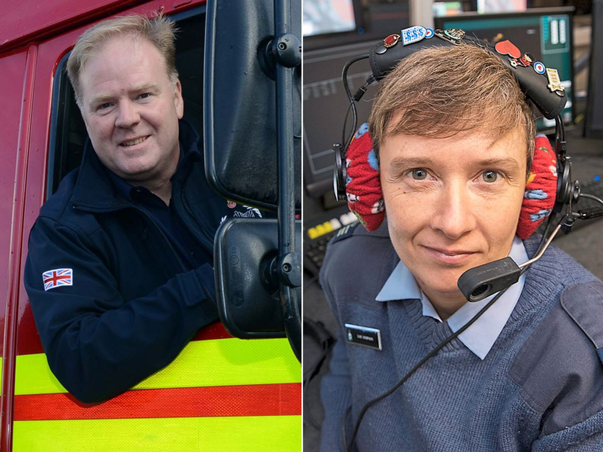 Humanitarian volunteer Steve Worrall and RAF Warrant Officer Louise Simpson