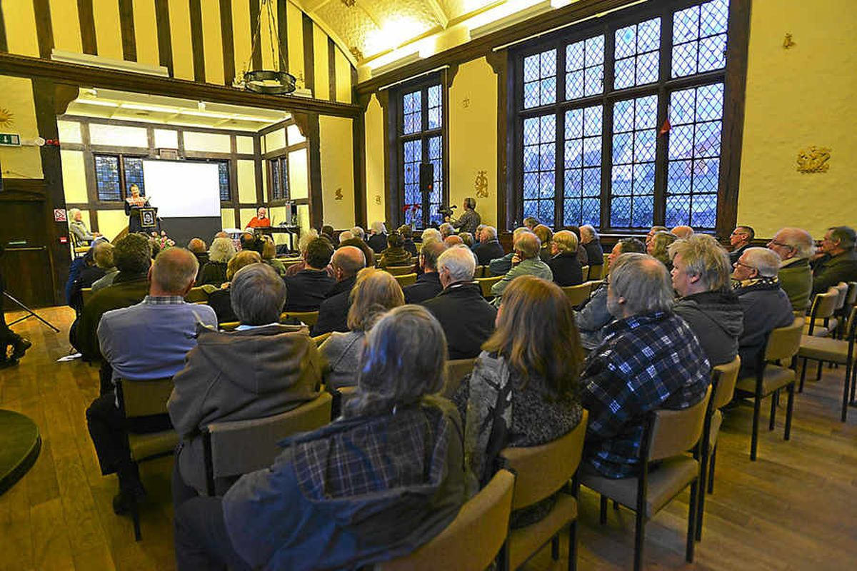 About 50 people were at Shrewsbury's Morris Hall to hear the talk on Murrell